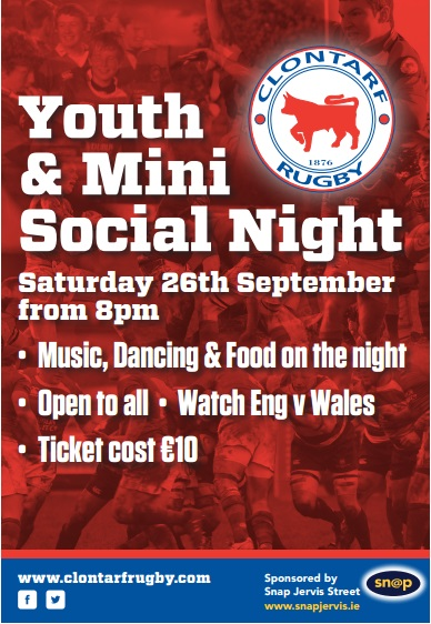 youth rugby social night
