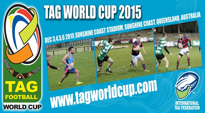 Clontarf Players representing Ireland at Tag Rugby World Cup
