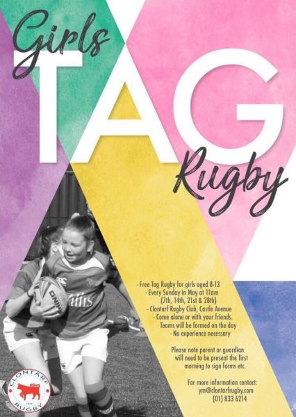 Girl's tag rugby - Clontarf
